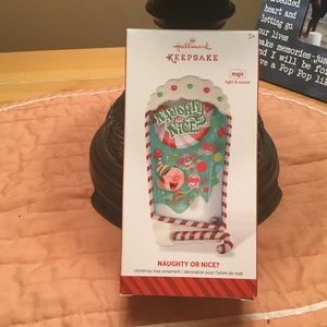 Hallmark Naughty or Nice Christmas Tree Ornament